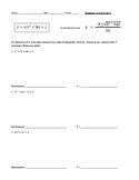 Solving Quadratic Equations Using the Quadratic Formula &