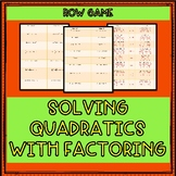 Solving Quadratic Equations With Factoring | Row Game