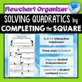 Solving Quadratic Equations by COMPLETING THE SQUARE Flowc