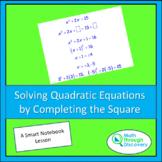Solving Quadratic Equations by Completing the Square -SN