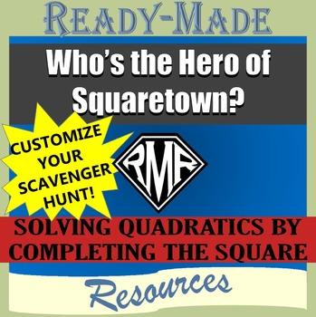 Solving Quadratic Equations - Completing the Square Editab