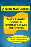 Quadratic Equations Solving by Completing the Square Practice
