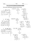 Solving Quadratic Equations by Factoring 14-Problem Practi