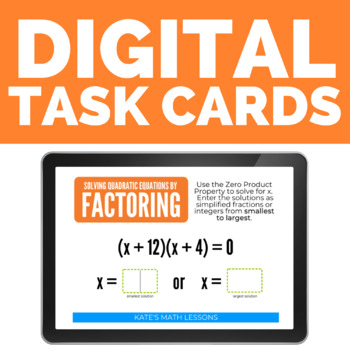 Solving Quadratic Equations by Factoring Boom Cards