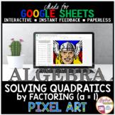 Google Sheets Digital Pixel Art Math Solving Quadratic Equations by Factoring