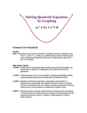 Solving Quadratic Equations by Graphing & Square Roots