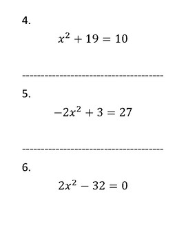 Solving Quadratic Equations by Using Square Roots