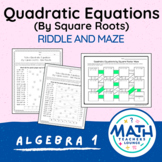 Solving Quadratic Equations (by square roots): Line Puzzle