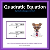 Solving Quadratic Equations by the Quadratic Formula Scaff