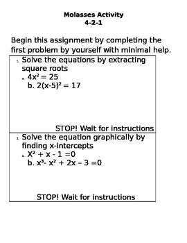 Solving Quadratic Equations-small group