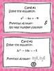 Solving Quadratic Equations using Factoring and the Quadra
