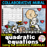Solving Quadratic Equations using Quadratic Formula Mural