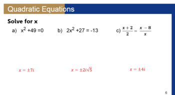 Solving Quadratic Equations with Imaginary Solutions