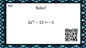 Solving Quadratic Equations with Square Roots - (30 Task Cards – 3  levels!)