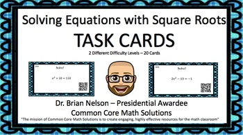Solving Quadratic Equations with Square Roots - (30 Task C