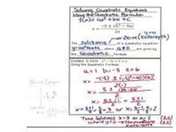 Quadratic Equations - Lesson 7a - Solving with the Quadratic Formula (alt)