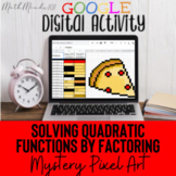 Solving Quadratic Functions By Factoring Mystery Pixel Art - Google Sheets