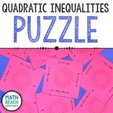 Solving Quadratic Inequalities Puzzle Activity