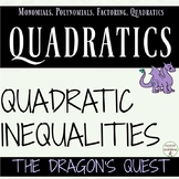 Solving Quadratic Inequalities Quest Activity Algebra