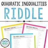 Solving Quadratic Inequalities Riddle Activity