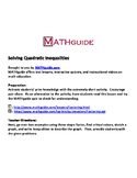 Solving Quadratic Inequalities by Factoring