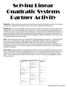 Solving Quadratic Linear Systems