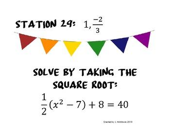 Solving Quadratics Activity