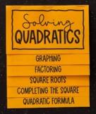 Solving Quadratics (Algebra Foldable)
