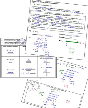 Solving Quadratics Algebraically (Complete Unit Notes)