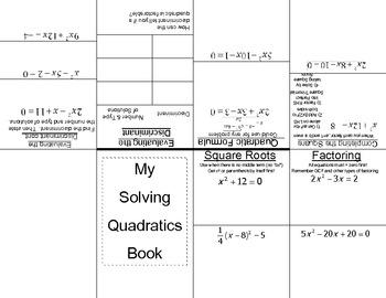 Solving Quadratics Book