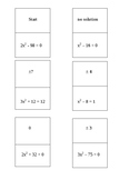 Solving Quadratics Equations using Square Roots Dominoes