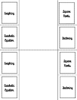 Solving Quadratics Foldable