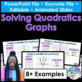 Solving Quadratics Graphs PowerPoint/Keynote Presentations