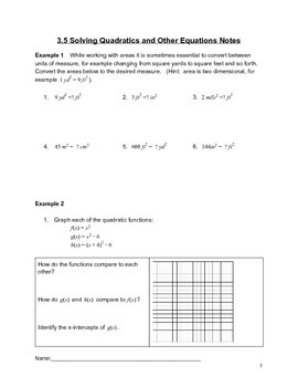 Solving Quadratics Lesson 5 of 10
