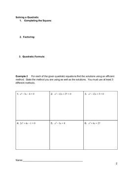 Solving Quadratics Lesson 7 of 10