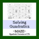 Solving Quadratics Maze - Quadratic Formula or by Completi