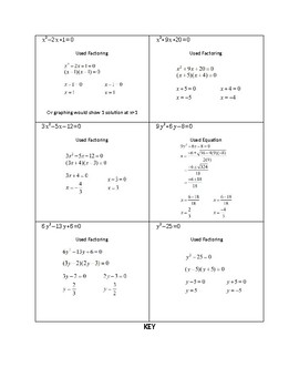 Solving Quadratics- Pick your Method