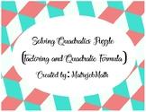 Solving Quadratics Puzzle