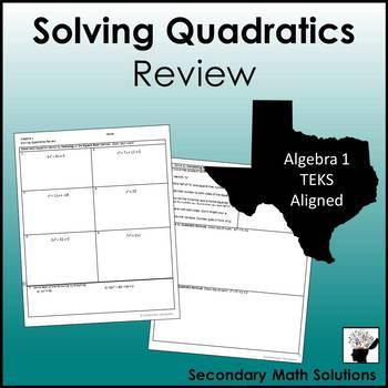 Solving Quadratics Review (A8A)