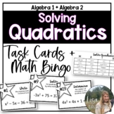 Solving Quadratics Review (Task Cards & MATHO)