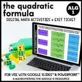 Solving Quadratics Using the Quadratic Formula Digital Mat