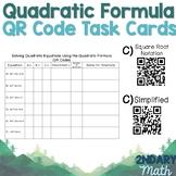 Solving Quadratics Using the Quadratic Formula QR Codes