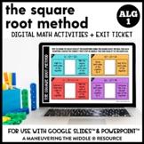 Solving Quadratics Using the Square Root Method Digital Ma