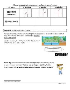 Solving Quadratics and Exploring Quadratics