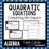 Solving Quadratic Equations by Completing the Square Task Cards with QR codes