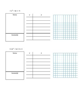 Solving Quadratics by Graphing Notes