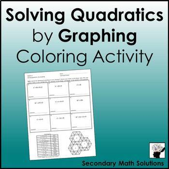 Solving Quadratics by Graphing Coloring Activity