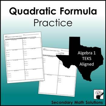 Quadratic Formula Practice (A8A)
