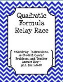 Solving Quadratics by Using the Quadratic Formula Relay Race!!