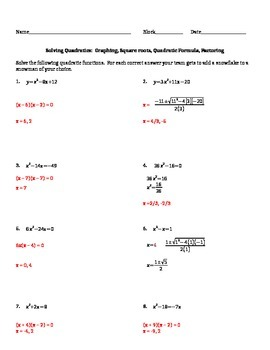 Solving Quadratics by any Method